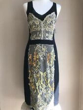 Nicole Miller Black Sleeveless Embellished Sexy Sheath Silk Dress Sz Medium EUC