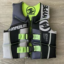 Hyperlite Wake Co Youth Life Jacket (50-90lbs) USCG Approved Type 3-green Black