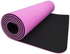 "Wacces TPE Exercise Fitness Yoga Mat 72""x 24""x 1/4"" Dual Reversible Non-Slip 6mm"