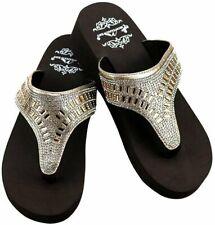 Creencamotqcross Montana West Women's Hand Beaded Flip Flop Sandals