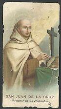 Estampa antigua de San Juan de la Cruz andachtsbild santino holy card santini