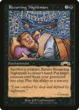 Recurring Nightmare Exodus HEAVILY PLD Black Rare Reserved List CARD ABUGames