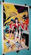 1990 Legends of the Stargrazers poster:Sexy bad girls/hot women comic book pinup