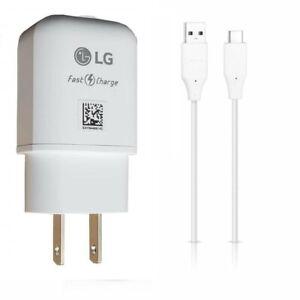 LG OEM USB-C,LG Fast Wall Adapter,Car For LG V20/V30/V40/V50/V60 ThinQ/LG Velvet