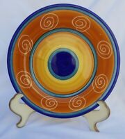 """PIER1 Hand painted Italian Swirl 8"""" Salad Plate Ceramic Made in Italy Collectibl"""