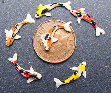 1:12 Scale 6 Mixed Koi Carp Fish For A Tumdee Dolls House Miniature Pond tic