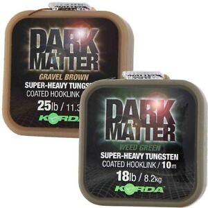 Korda Dark Matter Super Heavy Tungsten Coated Braid Braided Hooklink - All sizes