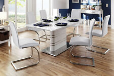 """Modern Dining Chair """"Maui"""" Leather in various colors"""