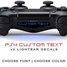 Playstation 4 PS4 Controller Light Bar LED Decal Sticker Custom TEXT Set of 2