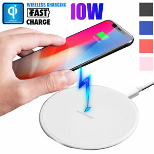 10W Qi Wireless Fast Charger Charging Pad Mat Dock for iPhone 11 Pro XS Max XR X