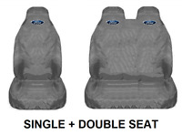 GREY FORD TRANSIT Van Seat Covers Protectors Heavy Duty Waterproof 1 + 2 HEAVY