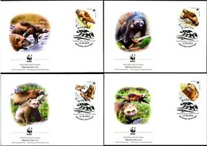RUSSIA - 2004 WWF 'WOLVERINE' First Day Covers x 4 [B1319]