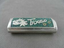 Vintage TAXCO Turquoise Chip Lighter Cover Case Cigarette Cover Holder