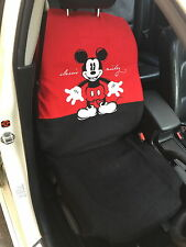Mickey Mouse Disney Car Truck Accessory #1 : 1 piece Car Seat Cover / Red,Black