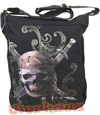 Pirates of the Caribbean tote Skull Messenger bag, NEW