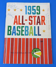 1959 BASEBALL ALL-STAR GAME PROGRAM ~ SIGNED BY LEFTY GOMEZ, HAL SCHUMACHER +1