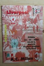 More details for 2005 champions league cup final programme *(liverpool v ac milan)* (rare pirate)