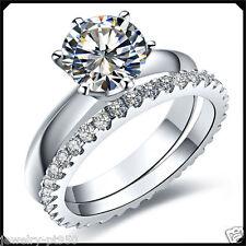 1.55CT VVS1 Diamond Solid Platinum PT950 Engagement Wedding Band Ring White Gold