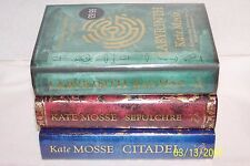 Languedoc Trilogy-Labyrinth, Sepulcher & Citadel-Mosse,Kate Collectible & Signed