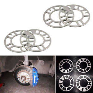 4PCS 5mm Alloy Aluminum Wheel Spacers Adaptor Shims Plate 4/5 Stud For Car Valid