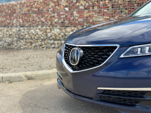 2015 - 2017 Acura TLX Diamond 2018+ Style Grille (OEM Emblem & Chrome Surround)