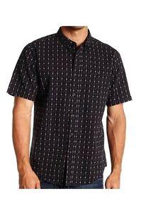NWT Small EZEKIEL Men/'s Lexington S//S Button-Up Shirt Black