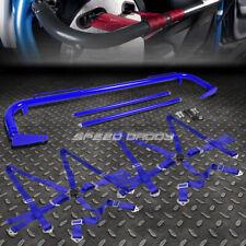 """BLUE 49""""STAINLESS STEEL HARNESS BAR+BLUE 6-PT SHOULDER STRAP CAMLOCK SEAT BELT"""