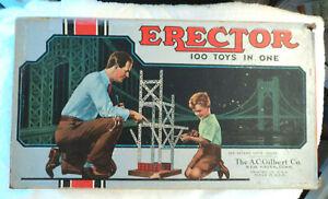 Vtg 1955 AC Gilbert Professional Erector Set No. 3 1/2 Complete w Manual USA