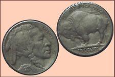 USA :- 5 Cents Buffalo Nickel 1927 S ....  cleaned  EF