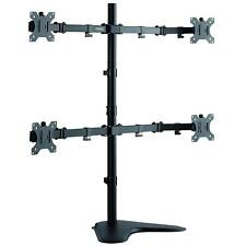 """Quad Monitor Mount - Multi Stand for 4 Computer Screens 13-27"""" Display"""