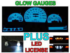 No Tach Glow Gauge Face + LED License Bulb For 1991-1995 Toyota Pickup Truck 2WD