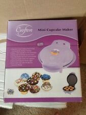 Crofton Mini Cupcake Maker Lilac Color with Recipes Brand New Never Used