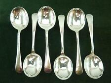 6 nice vintage A.E Poston Soup Spoons Old English pattern EPNS silver plated