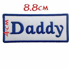 """Quality Iron/Sew on """"Daddy"""" biker patch Name Flash outlaw Cut Harley Davidson"""