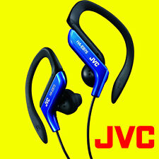 JVC HA-EB75A BLUE SPORTS ADJUSTABLE EAR CLIP EARPHONES HEADPHONES GYM RUNNING