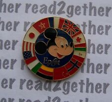 Disney Pin Epcot Mickey with Circle of Country Flags 2000