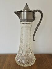 Vintage Silver Plate & Glass Claret Water Wine Pimms Jug Decanter