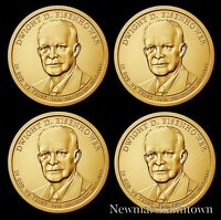 2015 P+D Dwight Eisenhower Presidential Dollar Set Position A+B From Mint Roll
