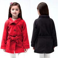 Kinder Baby Mädchen Fleece Jacke Mantel Winterjacke Trenchcoat Parka Outwear Top