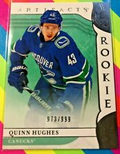 2019/20 UD Artifacts QUINN HUGHES Rookie # /999 VANCOUVER CANUCKS