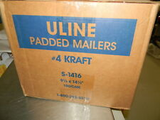 """Uline S-1416 Gold Self-Seal Padded Mailers #4 - 9 1⁄2 x 14 1⁄2"""", Case of 100 NIB"""