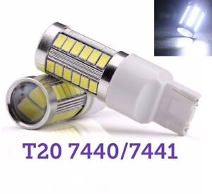 T20 7440 7441 12V 33SMD White LED Light Rear Signal M1 For Buick Cadillac MAR