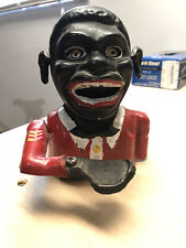 Vintage Cast Iron Black History Coin Bank