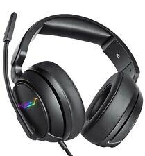 Premium Gaming Headset, 3.5mm Surround Stereo memory foam earmuffs  microphone