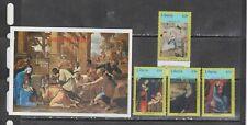 Liberia 2005 paintings art christmas set +s/s MNH