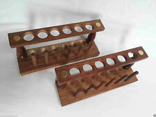Lot Of 12 Wooden Test Tube Stand With Drying Rack 6 Hole Vintage Lab Equipment