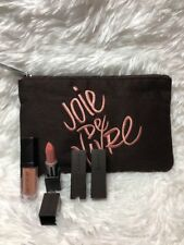 Laura Mercier 5 Pcs Lipstick In SENSUAL ~ Lip Glace In BARE NAKED & Makeup Bag !