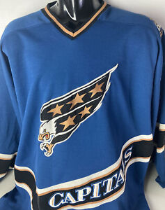 Vintage Starter Washington Capitals Jersey Spellout Screaming Eagle Patches XXL