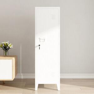 Office File Storage Cabinet Unit Metal Case with Lockable Door 3-Tiers Locker UK