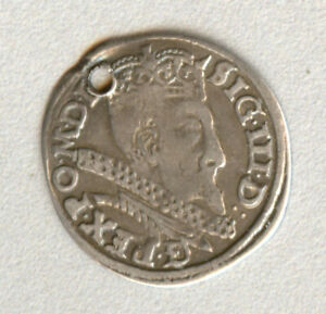 Poland silver coin III GROSCHEN 1597 Bromberg  mint Sigismund III Vasa
